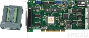 PCI-1202HU/S Multifunction PCI Adapter, 32SE/16D ADC, FIFO, 2 DAC, 16DI, 16DO, Timer, Cable Socket CA-4002x1, DB-1825 daughter board