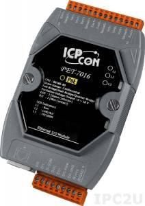 PET-7016 2-channel strain gauge, 1 AO, 2-channel digital input and 2-channel digital Output PoE module (RoHS)