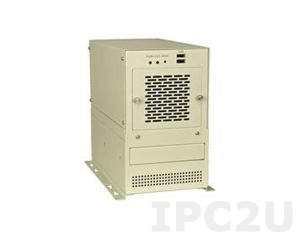 PAC-400GW/A618A 5-Slot Half size Industrial Chassis,WHite,1x 8cm fan,witH ACE-916AP-RS (150W)