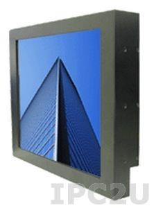 """S17L540-RMM1 17"""" TFT LCD Panel Mount LCD Monitor, IP22 of chassis, 1280x1024, no T/S, aluminum front panel, DVI, VGA, Audio Inpput, external power adapter 100-240V AC,power supply 12V DC"""