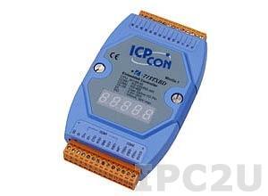 I-7188XBD-512 PC-compatible 40MHz Industrial Controller, 512kb Flash, 512kb SRAM, I/O Expansion Bus, 1xDI/1xDO, 1xRS485, 1xRS232/485, 7-Segment Display, MiniOS7, cable CA-0910x1