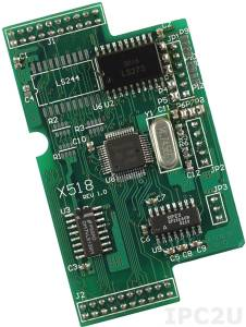 X518 1xRS-232, 8 DO Board, for I-7188XB/EX/XG/EG