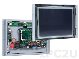 "VOX-121-TS/VDX-6328 12.1"" TFT LCD Panel PC, USB Touch Screen, VDX-6328 Vortex86DX 800MHz CPU Board, 256MB DDR2 RAM, VGA/LCD/LVDS, LAN, 6xCOM, 3xUSB, GPIO, FDD, CompactFlash Socket"