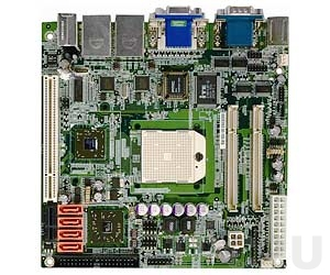 KINO-690S1-R11 Mini-ITX AMD Socket S1 Turion 64, Turion 64 x2, Mobile Semprom CPU Card with VGA, DVI, 2xGb LAN, 4xSATAII-300, Audio, 1xPCI, 1xPCI Express x1 Expansion Slots