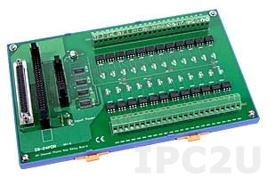 DB-24POR/D/DIN Isolated 24 Channels Photo MOS Relay Daughter Board, Opto-22 Compatible, DIN-Rail Mounting