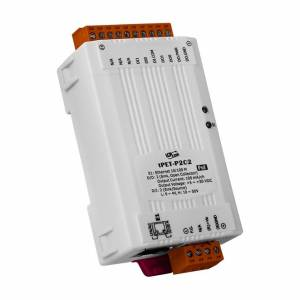 tPET-P2C2 Tiny Ethernet I/O Module, 2DI/2DO (NPN, Sink), PoE: IEEE 802.3af, Class 1