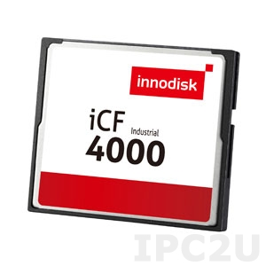 DC1M-02GD31C1DB 2GB Industrial CompactFlash Card, Innodisk iCF 4000, Dual Channel, Standard Temperature 0..+70 C